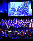 "Performance of Johannes Brahms' ""Requiem"" by the United States Navy Sea Chanters, the Marine Chamber Orchestra, and the Washington National Cathedral Choir at ""The Washington National Cathedral's A Call to Compassion"" being hosted at the John F. Kennedy Center for the Performing Arts in Washington, D.C. on Friday, September 9, 2011 to commemorate the tenth anniversary of 9/11 .Credit: Ron Sachs / Pool via CNP"