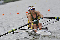 Brandenburg, GERMANY, AUS BW2- Bow Elizabeth ALDERMAn and Emily ROSE, move away from the start at the 2008 FISA U23 World Rowing Championships, {idow], {date}, [Mandatory credit: Peter Spurrier Intersport Images]... Rowing Course: Brandenburg, Havel Rowing Course, Brandenburg, GERMANY