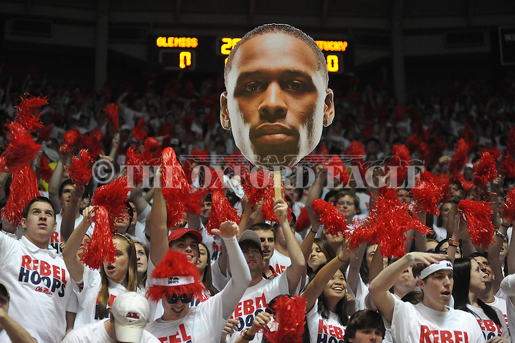 Ole Miss students vs. Kentucky at the C.M. &quot;Tad&quot; Smith Coliseum on Tuesday, January 29, 2013.