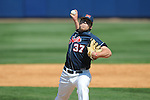 Ole Miss' Blair Wright (37) pitches at Oxford-University Stadium in Oxford, Miss. on Sunday, March 20, 2011.  Alabama won 6-4.