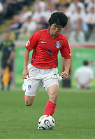 Korea Republic's Ji Sung Park (7). Korea Republic defeated Togo 2-1 in their FIFA World Cup Group G match at the FIFA World Cup Stadium, Frankfurt, Germany, June 13, 2006.