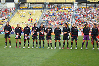 14 MAY 2011: USA Women's National Team players before the International Friendly soccer match between Japan WNT vs USA WNT at Crew Stadium in Columbus, Ohio.