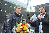 VOETBAL: HEERENVEEN: ABE LENSTRA STADION: 19-10-2013, SC Heerenveen - FC Utrecht, uitslag 4-1, afscheid trainer/coach Marco van Basten en bestuursvoorzitter Jelko van der Wiel, ©foto Martin de Jong