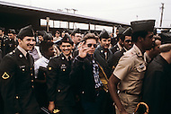 Fort Dix, NJ, USA, June 1980. After the first training period rookies can finally go home for their first license period.
