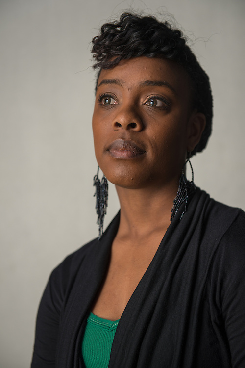 Graduate student playwright Bianca Sams has received university funding to conduct research on military trauma/PTSD, which she is using as the basis of two thesis plays. Photo by Ben Siegel