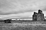Disused industrial buildings in rural environment in Cavalier County USA