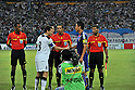 Server Djeparov (UZB), Makoto Hasebe (JPN), SEPTEMBER 6, 2011 - Football / Soccer : Uzbekistan cpatain Server Djeparov shakes hands with Japan cpatain Makoto Hasebe before the FIFA World Cup Brazil 2014 Asian Qualifier Third Round Group C match between Uzbekistan 1-1 Japan at Pakhtakor Markaziy Stadium in Tashkent, Uzbekistan. (Photo by Jinten Sawada/AFLO)