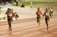 Bianca Knight winning the 200m in a time of 22.62sec. over Veronica Campbell 22.93sec. at the Jamaica International Invitational Meet on Saturday, May 3rd. 2008. Photo by Errol Anderson, The Sporting Image.