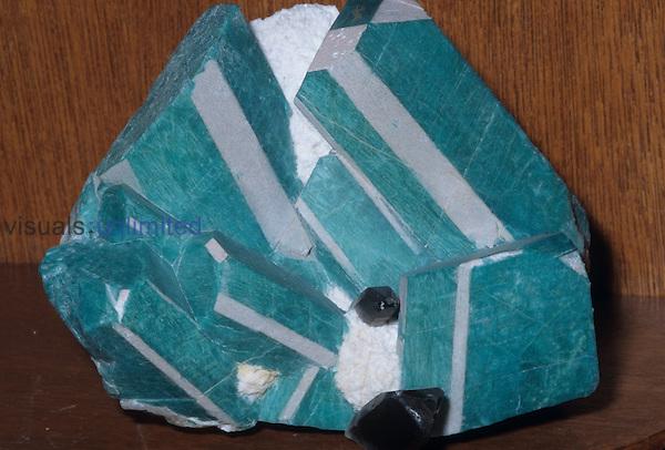 Microline; variety amazonite (K Al Si3 O8 Crystal Peak, Teller County, Colorado, USA