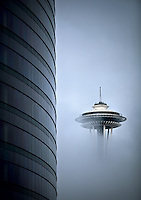 space needle fog