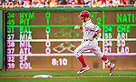 22 May 2015: Washington Nationals outfielder Bryce Harper rounds the bases after hitting a second inning solo home run against the Philadelphia Phillies at Nationals Park in Washington, DC. The Nationals defeated the Phillies 2-1 in the first game of their 3-game weekend series. Mandatory Credit: Ed Wolfstein Photo *** RAW (NEF) Image File Available ***