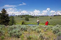 Photographers, Daryl's Pond, Grand Tetons, Grand Teton National Park