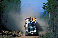Logging Truck,.Chilcotin Country,.British Columbia, Canada