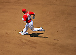 28 May 2011: Washington Nationals outfielder Laynce Nix rounds the bases after hitting a solo homer against the San Diego Padres at Nationals Park in Washington, District of Columbia. The Padres defeated the Nationals 2-1 to even their 3-game series. Mandatory Credit: Ed Wolfstein Photo