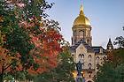 October 14, 2016; Main Building at sunrise (Photo by Matt Cashore/University of Notre Dame)