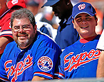 23 September 2007: Devoted Montreal Expos fans Sylvain and Dominick Tremblay attend the very last Washington Nationals game  held at Robert F. Kennedy Memorial Stadium in Washington, DC. The Nationals defeated the visiting Philadelphia Phillies 5-3 to close out the 2007 home season. The Nationals will open up the 2008 season at Nationals Park, their new facility currently under construction.. .Mandatory Photo Credit: Ed Wolfstein Photo