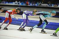 SCHAATSEN: HEERENVEEN: IJsstadion Thialf, 17-01-2015, Marathonschaatsen, KPN Marathon Cup 14, Topdivisie Dames, laatste wedstrijd Maria Sterk (#41), ©foto Martin de Jong