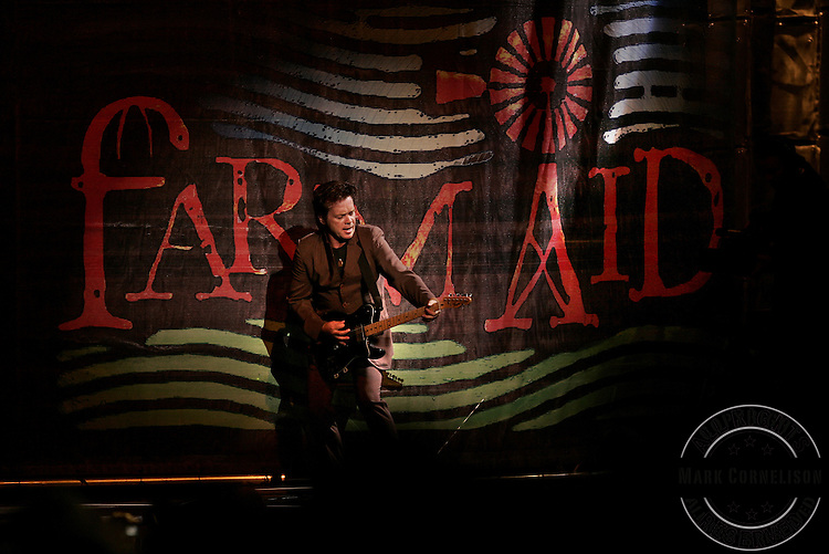 John Mellencamp was a crowd favorite during his set at the 2005 Farm Aid on Sunday  September 18, 2005 in Tinley Park, Illinois.  Mark Cornelison