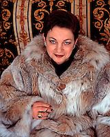 Moscow, Russia, 1997..Fur dealer Yelena Yermak.