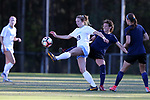 CARY, NC - APRIL 08: North Carolina's Dorian Bailey (29) and Courage's Elizabeth Eddy (behind). The NWSL's North Carolina Courage played a preseason game against the University of North Carolina Tar Heels on April 8, 2017, at WakeMed Soccer Park Field 3 in Cary, NC. The Courage won the match 1-0.