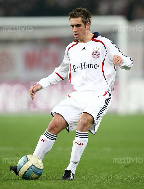 FUSSBALL     1. BUNDESLIGA/DFB POKAL     SAISON 2007/2008 Philipp LAHM (FC Bayern Muenchen), Einzelaktion am Ball