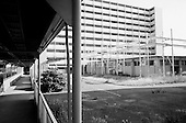 "Toyota City, Japan.June 14, 2009..Toyota City, the Detroit of Japan, and home of Toyota car manufacturing company...Toyota company dormitory buildings named ""Tanaka Wafu Ryou"" have been empty for a few years."