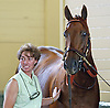 Funny Cide, with assistant trainer Funny Cide.  Santa Anita..  © 10/03 Barbara D. Livingston.  All rights reserved