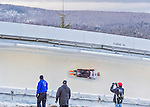 9 January 2016: Barrett Martineau, competing for Canada, slides through Curve 14 on his second run of the day during the BMW IBSF World Cup Skeleton Championships at the Olympic Sports Track in Lake Placid, New York, USA. Martineau ended the day with a combined 2-run time of 1:50.90 and a 12th place overall finish. Mandatory Credit: Ed Wolfstein Photo *** RAW (NEF) Image File Available ***