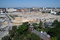 1997 May 06..Redevelopment..Macarthur Center.Downtown North (R-8)..LOOKING WEST.FROM SCHOOL ADMINISTRATION BUILDING...NEG#.NRHA#..