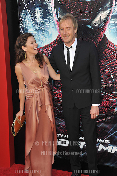 """Rhys Ifans & girlfriend Anna Friel at the world premiere of his movie """"The Amazing Spider-Man"""" at Regency Village Theatre, Westwood..June 29, 2012  Los Angeles, CA.Picture: Paul Smith / Featureflash"""