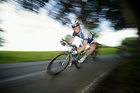 Jetse Bol (NLD) speeding down<br /> <br /> 2013 Ster ZLM Tour <br /> stage 4: Verviers - La Gileppe (186km)