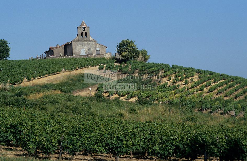 Europe/France/Midi-Pyrénées/81/Tarn/Gaillac: Le vignoble AOC Gaillac et chapelle