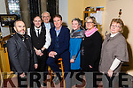 Pictured at the Liam Lawton Concert 'O Holy Night' at Castleisland Parish Church, in aid of Brosna Parish Church Renovation Fund, on Monday were l-r: Nigel Connell, Mark Cahill, Fr Dan O'Riordan, Liam Lawton, Nora Feely, Noreen O'Sullivan and Joan Walsh.
