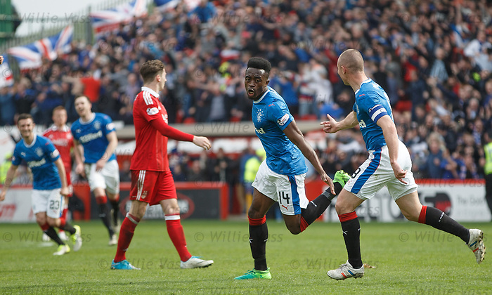Joe Dodoo celebrates goal no 3