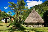 Case kanak, tribu de Tendo, province Nord, Nouvelle-Calédonie