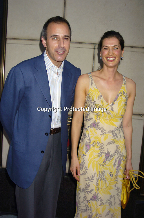 """Matt Lauer and wife Annette Lauer ..at a Book party for Madonna's new book """"Lotsa De Casha"""" ..on June 7, 2005 at Bergdorf Goodman. ..Photo by Robin Platzer, Twin Images"""