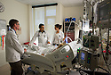 St. Mary's Medical Center. Jonathan Galli, from left, Kishore Kumar, M.D., release 20120523001, Jenna Pariseau, both class of 2014, and patient, release 20120523003.