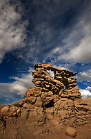 746000040 summer thunderstorm clouds form up over the hoodoos in fantasy canyon blm lands utah united states