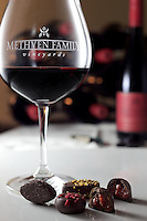 Methven Family Vineyards red wine and chocolates