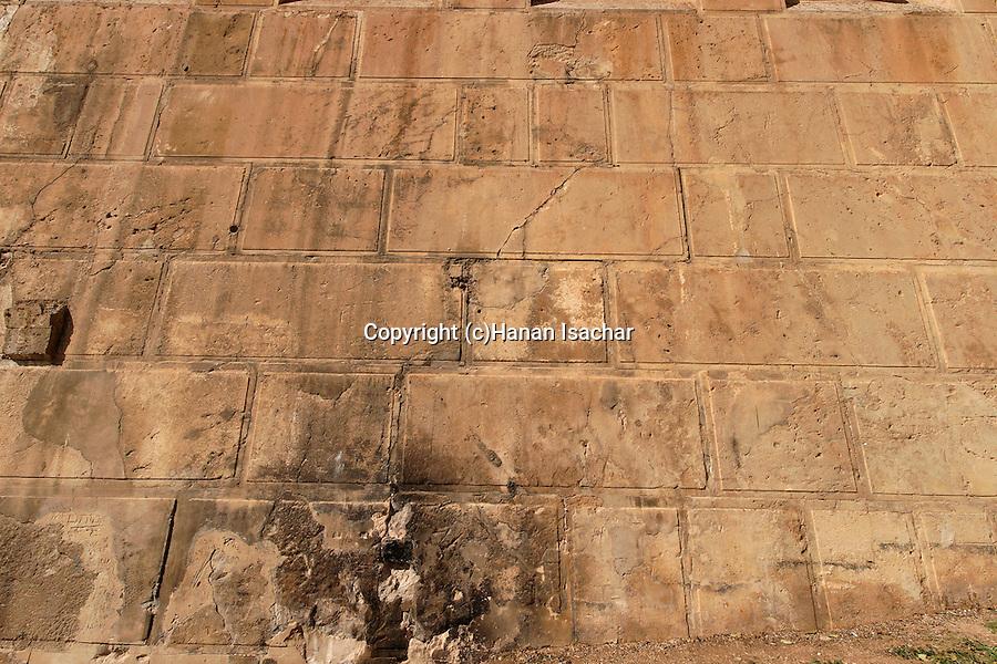Judea, Hebron Mountain.Herodian construction at the Cave of Machpelah in Hebron