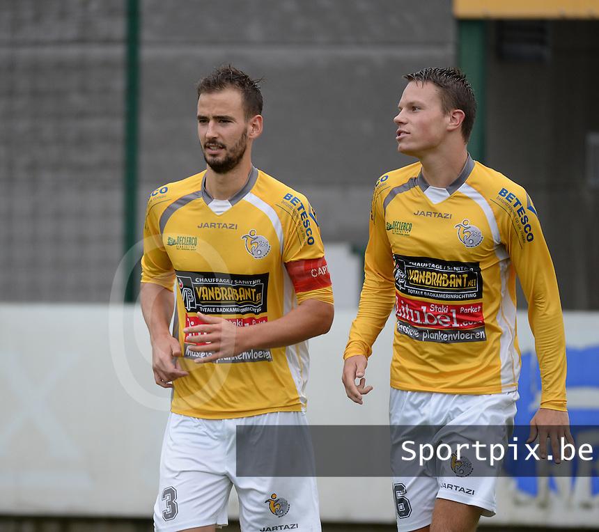 SC Wielsbeke :  Ben Mestdag en Jens Decoster<br /> Foto VDB / Bart Vandenbroucke