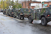 October 30, 2012  (Washington, DC)  D.C. National Guard Humvees escorted D.C. Mayor Vincent Gray as he toured Hurricane Sandy storm damage.  (Photo by Don Baxter/Media Images International)