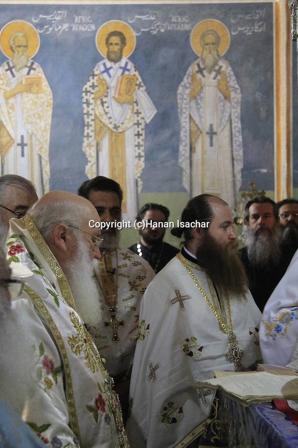 Israel, Kyriakos the Metropolitan of Nazareth on Annunciation Day at the Greek Orthodox Church of the Annunciation, the Church of St. Gabriel