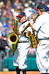 3 March 2010: The Walt Disney World Saxophone Quartet entertains fans between innings of a Spring Training game between the Atlanta Braves and the New York Mets at Champion Stadium in the ESPN Wide World of Sports Complex in Orlando, Florida. The Braves defeated the Mets 9-5 in the Spring Training matchup. Mandatory Credit: Ed Wolfstein Photo