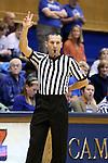 03 December 2015: Referee Joseph Vaszily. The Duke University Blue Devils hosted the University of Minnesota Golden Gophers at Cameron Indoor Stadium in Durham, North Carolina in a 2015-16 NCAA Division I Women's Basketball game. Duke won the game 84-64.