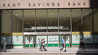 A closed branch of the Emigrant Savings Bank in New York on Thursday, August 27, 2015.  (© Richard B. Levine)