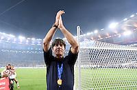 FUSSBALL WM 2014                       FINALE   Deutschland - Argentinien     13.07.2014 DEUTSCHLAND FEIERT DEN WM TITEL: Bundestrainer Joachim Loew jubelt ueber den WM Sieg