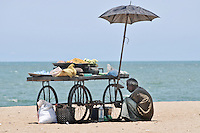 A street side vendor at the beach in Pondicherry. Arindam Mukherjee