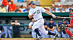 9 March 2012: Detroit Tigers infielder Brandon Inge in action during a Spring Training game against the Philadelphia Phillies at Joker Marchant Stadium in Lakeland, Florida. The Phillies defeated the Tigers 7-5 in Grapefruit League action. Mandatory Credit: Ed Wolfstein Photo