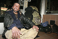 "21 January 2008.  Ocean Beach, San Diego, CA:  Frank Montoya, 47, aka ""Cisco"" is seen sitting in the entrance of a store on Newport Avenue in Ocean Beach, San Diego California.  Police have identified Montoya and another man, Damian Maple, 21 as the suspects who allegedly beat a 26-year-old Australian tourist with a skateboard, leaving him unconscious in a fire ring on Abbot Street in Ocean Beach on Wednesday, Feb. 27 at about 5:20 a.m.  The story was featured on the Saturday March 29 edition of the FOX Television Show, America's Most Wanted.  The victim, Robert Schneider, 26, is recovering in a local hospital.."